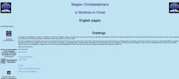 Belgian Christadelphians English pages