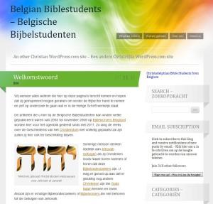 First article for the opening of the WordPress site of the Belgian Bible Students - Eerste artikel bij de opening van de WordPress site van de Belgische Bijbel Studenten