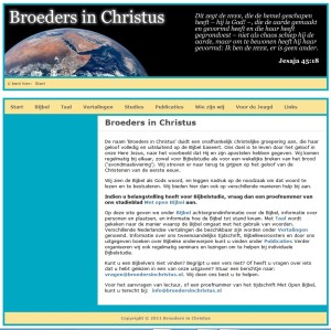 Website of the Brothers in Christ or Christadelphians in the Netherlands - Website van de Nedrlandse Broeders in Christus