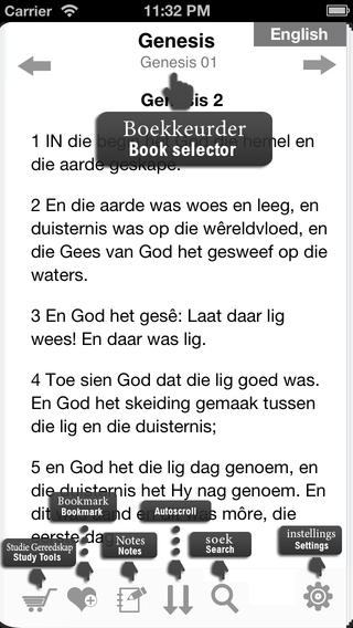 Afrikaans Bible 1953 Open iTunes laat gebruikers toe om maklik die Bybel te lees, navigeer, belangrike verse te merk, te boekmerk en notas te neem.