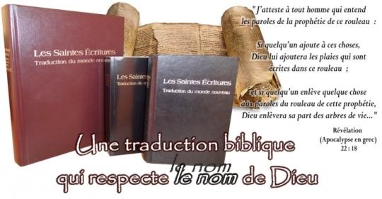 Traduction du Monde Nouveau des Saintes Écritures