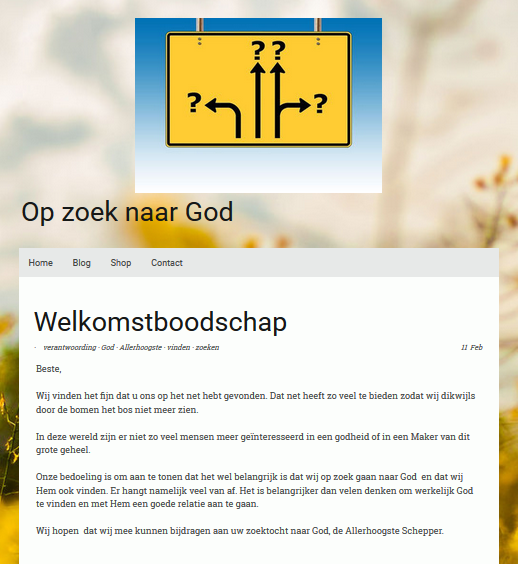 Op zoek naar God - 1° Component of the triptych about looking for God and the way to Him to come into a good relationship.
