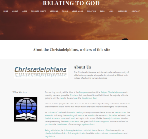 Relating to God (Weebly website) About page
